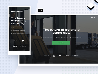 New Mothership Website 2020 code future shipping cargo freight product design product launch website