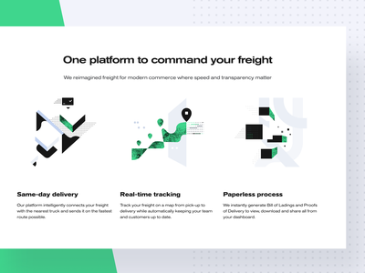 Command Your Freight abstract website product design web designer cargo iconography illustration logistics shipping freight web design