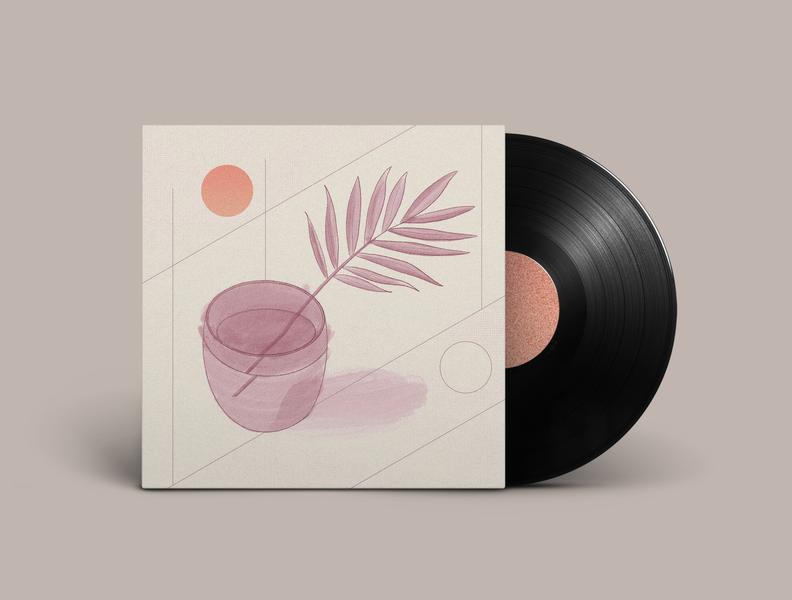Fair Pilot Single Out Now! single texture photoshop procreate illustrations musician sun plant album art vinyl music