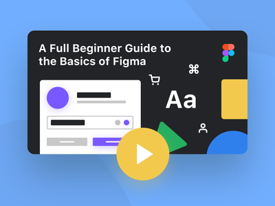 Beginner Guide to the Basics of Figma for Design (Tutorial) typography illustration thumbnail iconography icon research wireframe basics tricks tips how to how to use figma beginner ui figma ux figma video youtube figma tutorial