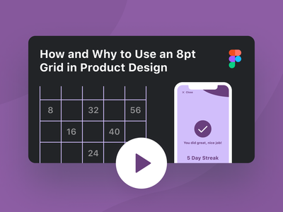 How and Why to Use an 8pt Grid in Product Design (Video) tricks tips how to design grid youtuber figma tutorial figma thumbnail product design grids 8pt grid tutorial video youtube