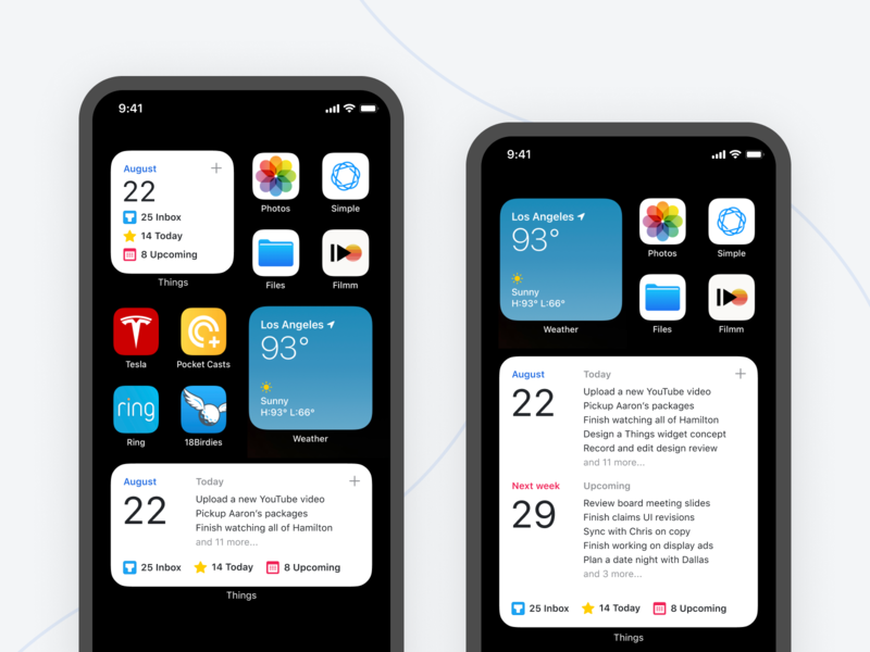 Things Widget iOS 14 (Concept) best ios clean minimalism interface ux ui ui design app design home screen native apple apple design product design mockup concept cultured code apple ios 14 widget things