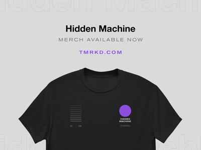 Hidden Machine Merch Available Now! streetwear design streetwear shirtdesign shirt apparel merchandise design band shirts release album beats music merch design swag band merchandise t shirt merch