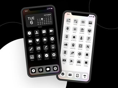 Introducing OS Icons! 14 theme dark ui minimalism minimal monochrome popular customization app design mobile apps homescreen ios 14 homescreen product launch iphone iconography icons