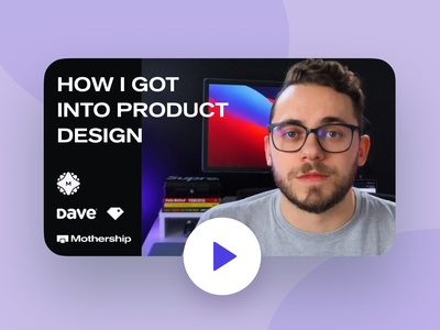 📹 How I Got Into Product Design (Video) mothership metalab youtube channel advice product design advice product design career product design vlogger vlog figma video thumbnail journey career design video youtuber youtube