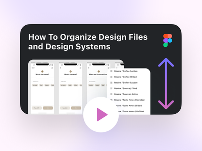 How to Organize Design Files and Design Systems design tutorial product design ux webdesign uiux ui thumbnail figma tips and tricks figma tutorial youtuber youtube file organization figma file figma organization organization make design system design system organize