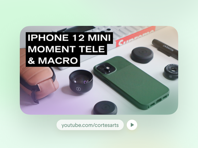 New Video! iPhone 12 Mini + Moment Telephoto Lens and Case influencer creativity cinematography photography ux design branding graphic design review tech iphone 12 mini iphone 12 iphone minimalism thumbnail video youtube gear camera moment