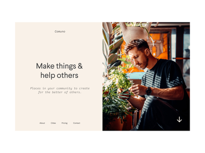 Comuno Exploration blog minimalism layout clean product agency bold brand website web design ux design simple startup practice product design design branding ui minimal