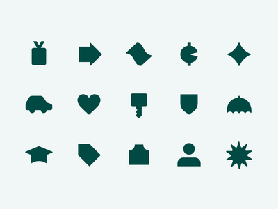 Key Category Iconography vector northstar star benefits app design web design web ux ui iconography financial fintech finance product startup product design category icons illustration icon