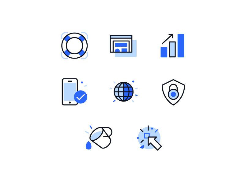 Features Icons by Dennis Cortés