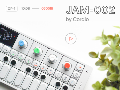 JAM-002 by Cordio op-1 music video pocket operator teenage engineering youtube jam beat ambient production hip hop