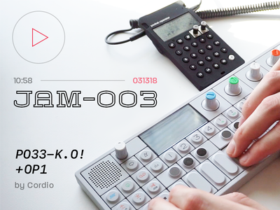 JAM-003 by Cordio hip hop production ambient beat jam youtube engineering teenage pocket operator video music op-1