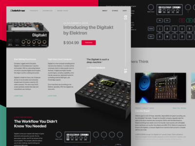 Digitakt Landing Page