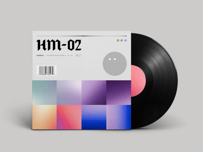 HM-02 Available Now! music album artwork ambient noise pattern minimal cover vinyl ep release abstract