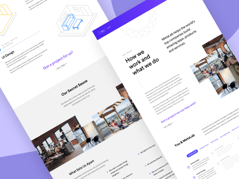 MetaLab Website About Concepts page landing marketing product about minimal website ux ui