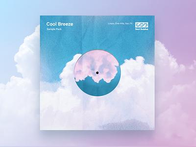 Cool Breeze Sample Pack Artwork artwork art direction minimal clouds vinyl pack sample art album music