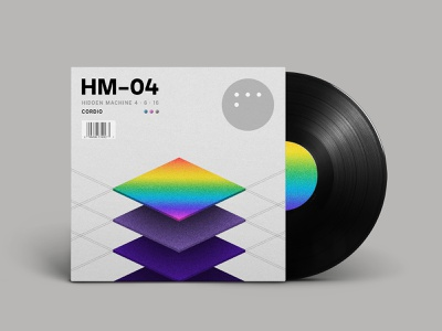 HM-04 Available Now! music album artwork ambient noise pattern minimal cover vinyl ep abstract