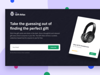The Gift Atlas Landing Page