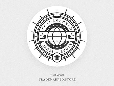 Trademark Marketing 002 merch clothes clothing illustrator apparel badge typography vector design brand branding logo minimal illustration icon