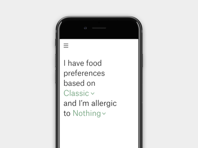 Food app allergies allergy food app ui food app