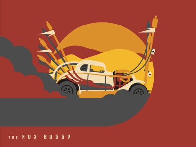 Mad Max Nux Buggy vector design mad max illustrator icon dkng car illustration