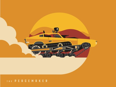 Mad Max Peacemaker art series movie design vector mad max illustrator icon dkng car illustration