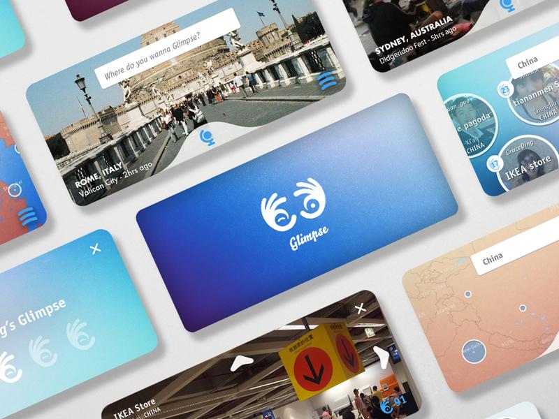 Glimpse Mobile App mobiel app ui design ui