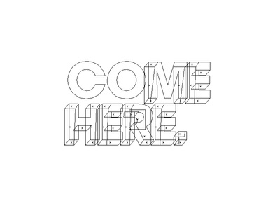 Come Here outline illustrator come here