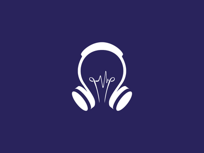 Learning Languages with Songs - Logo sketch language learning teaching sound headphones music
