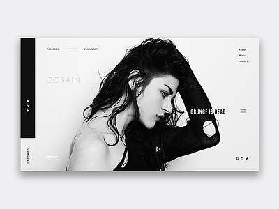 Grunge web ux ui site service pegs interface digital cobain design clear black