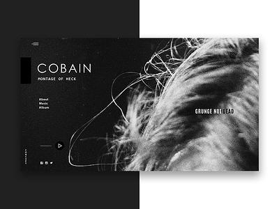 kurt cobain web ux ui interface grayscale digital design clear white black