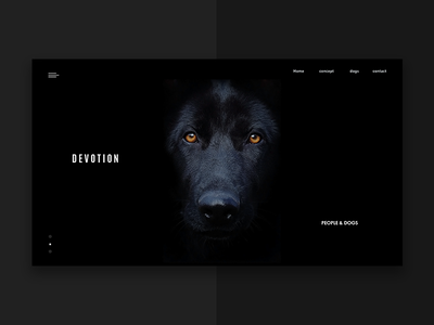 Devotion web ux ui site pegs interface digital design clear black