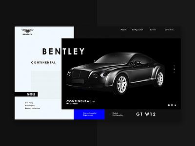 BENTLEY bentley website web ux ui promo minimal fullscreen interfacedesktop design black