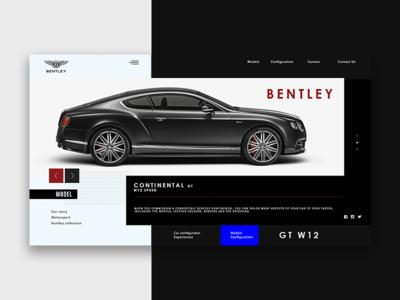 BENTLEY2 desktop interface bentley website web ux ui promo minimal fullscreen design black