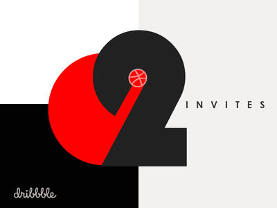 Two Dribbble Invites giveaway two invitations invitation dribble invites invite dribbble