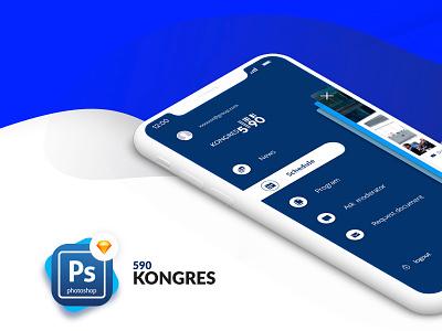 App Kongres 590 app  design digital ux minimal white clear interface design web ui