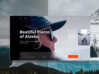Alaska alaska vector web design site digital black white interface clear ux ui