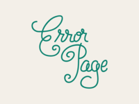 Error Page Lettering