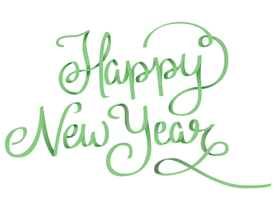 Happy New Year lettering WIP