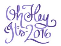 2016 Lettering WIP