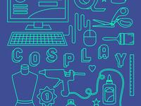 Cosplay Tools T-shirt Design
