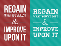 Regain What You've Lost