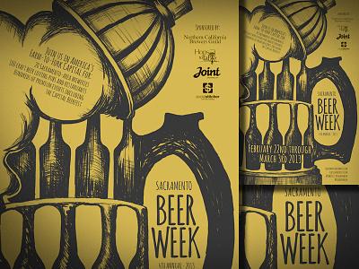 Sacramento Beer Week 2013 sacramento craftbeer poster illustration beer week