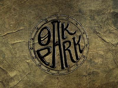 Oak Park Brewing Logo Comp logo illustration brewery