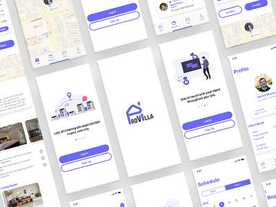 ProVilla Cleaners App mobile ui design ui design ux design
