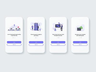 ProVilla Cleaner App On-Boarding ios app mobile onboarding mobile ui design app design app