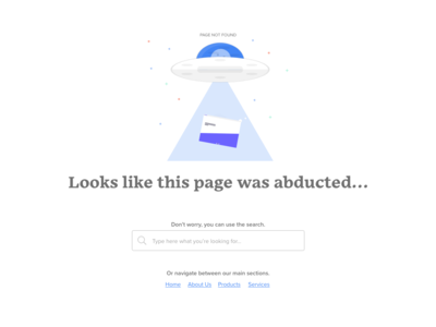 Daily UI 008 - 404 Error Page