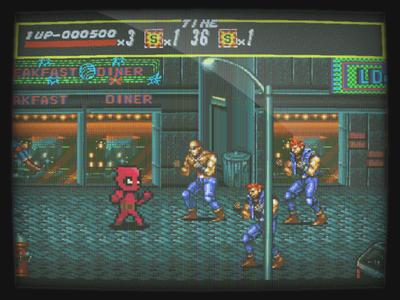 Streets of Deadpool rage streets pixel pixel art genesis deadpool
