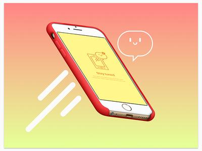 Cutefication notification screen flat illustration notification