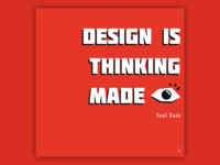 My favorite Saul Bass quote